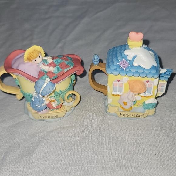Precious Moments Avon Exclusive Mini Tea Pot Sets